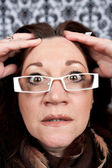 Woman Losing Her Mind — Stock Photo