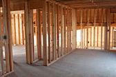New Construction Framing Interior — Stock Photo