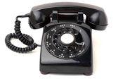 Black Vintage Phone — Stock Photo