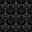 Dark Seamless Vector Damask Pattern - Stock Vector