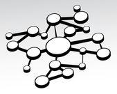 Empty Networking Flow Chart — Stock Vector