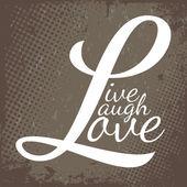 Miłość śmiech żyć — Wektor stockowy