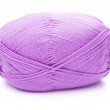 Ball of violet threads white background — Stock Photo #11129397