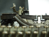 The typewriter that has been used in the last century — Stockfoto