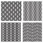 Set of 4 monochrome elegant seamless patterns — Stock Vector #10955632