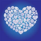ダイヤモンド カード心 — ストックベクタ