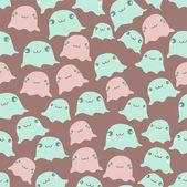 Funny sea seamless pattern — Stock Vector