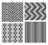 Set of 4 monochrome elegant seamless patterns — Stock Vector