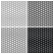 Set of 4 monochrome elegant seamless patterns — Stock Vector