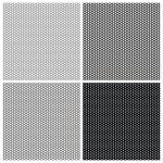 Set of 4 monochrome elegant seamless patterns — Stock Vector #11091007