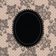 Black elegant doily on lace background — Stock Vector #11242336
