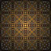 Gorgeous black gold seamless pattern — Stock Vector