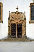 The portal of St . Michael Chapel, University of Coimbra — Stock Photo