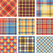 Bright plaid patterns set — Stock Vector