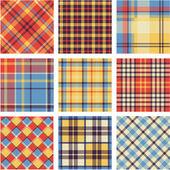 Bright plaid patterns set — Stock Vector