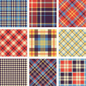 Tartan vector set — Stock Vector