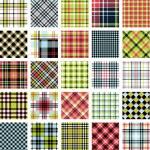 Big plaid pattern set — Stock Vector