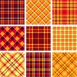 Stock Vector: Bright plaid patterns