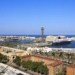 Panoramic view of the port of Barcelona — Stock Photo
