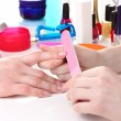 Stock Photo: Manicure process in beautiful salon