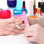 Manicure process in beautiful salon — Stock Photo #10805448