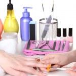 Manicure process in beautiful salon — Stock Photo #10805468