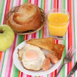 Classical breakfast — Stock Photo