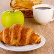 Classical breakfast. Coffee and croissant — Stock Photo #10807930