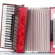 Retro accordion isolated on white — Stockfoto