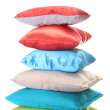 Bright pillows isolated on white — Stock Photo #10811285
