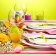 Easter table setting — Foto de Stock