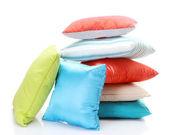 яркие подушки, изолированные на белом фоне — Стоковое фото