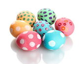 Colorful Easter Eggs isolated on white — Stock Photo