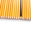 Lead pencils isolated on white — Zdjęcie stockowe