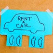 Stock Photo: Color advertisement rent