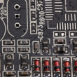 Modern electronic board close-up - Stock Photo