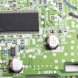 Modern electronic board close-up - Stok fotoraf