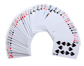 Cards isolated on white — Stock Photo