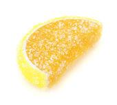 Orange jelly candy isolated on white — Stock Photo