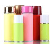 Aerosol cans isolated on white — Stock Photo