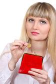 Piękne złote bransolety, pierścienie i biżuterii na szarym tle — Zdjęcie stockowe