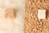 Muster der weißen zucker und braunen zucker nahaufnahme — Stockfoto