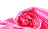 Seda rosa drape isolado no branco — Foto Stock