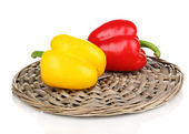 Saborosas pimentas isoladas no branco — Foto Stock