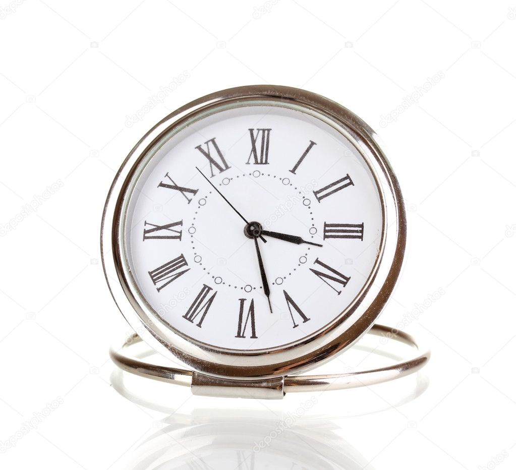 Clock isolated on white — Stock Photo #10922233