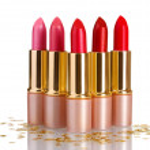 Beautiful lipsticks isolated on white — Stock Photo #10940701