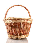 Empty basket isolated on white — Stock Photo