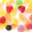 Stock Photo: Colorful jelly candies background