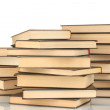 Stock Photo: Pile of books isolated on white background