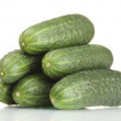 Stock Photo: Fresh cucumbers isolated on white